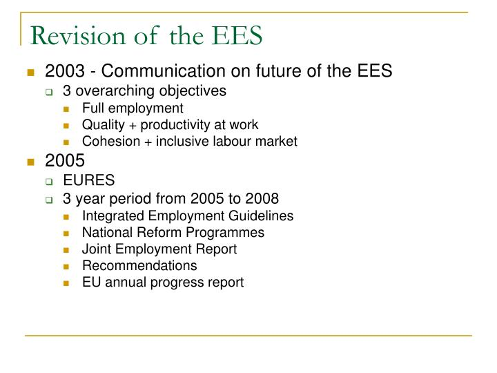 Revision of the EES