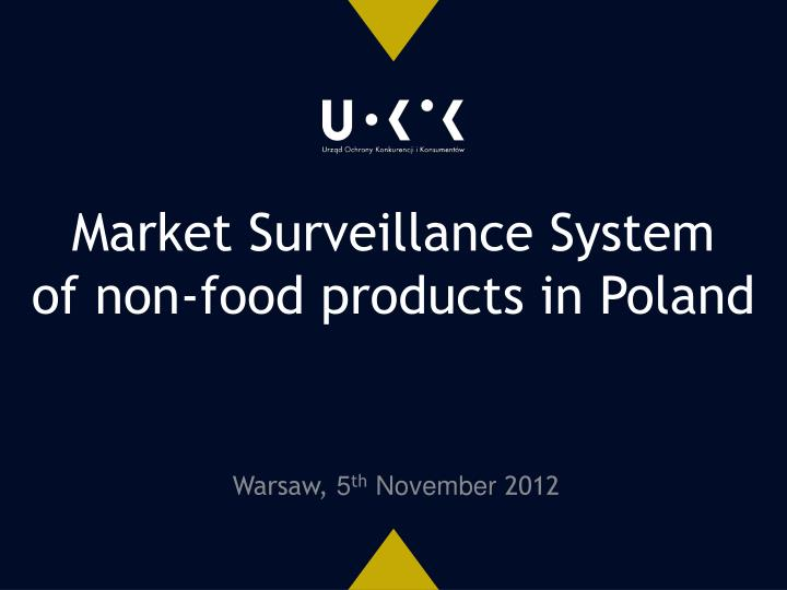 Warsaw 5 th november 2012