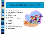how do students differ