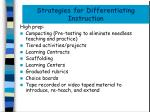 strategies for differentiating instruction1