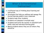 what is differentiated instruction1