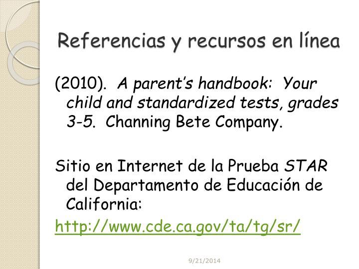 Referencias y recursos en línea