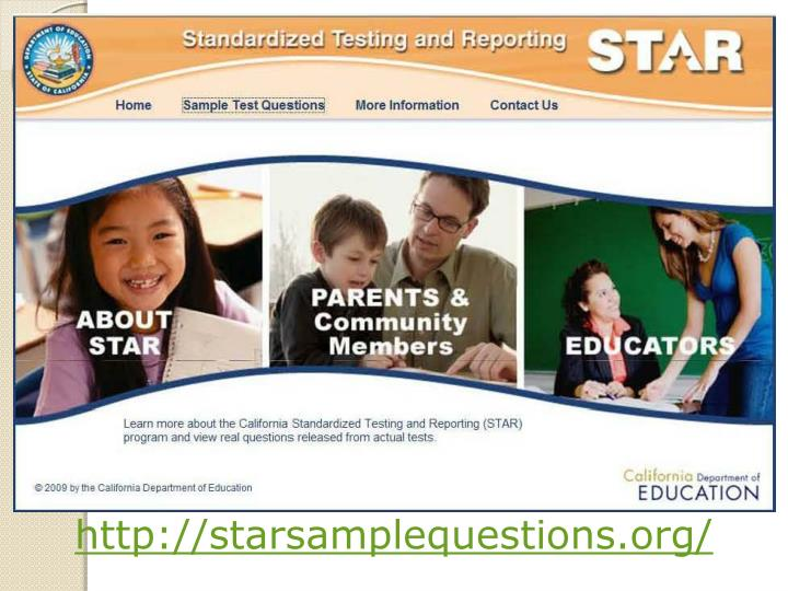 http://starsamplequestions.org/