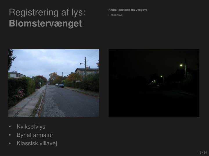 Registrering af lys: