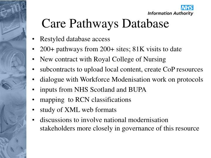 Care Pathways Database