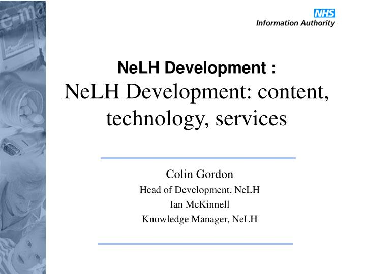 Nelh development nelh development content technology services
