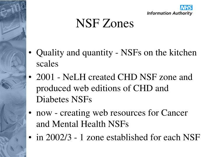 NSF Zones