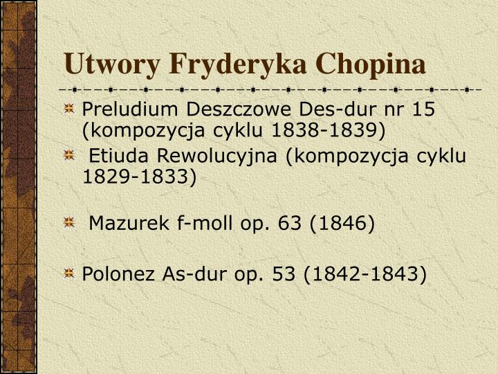 Utwory Fryderyka Chopina