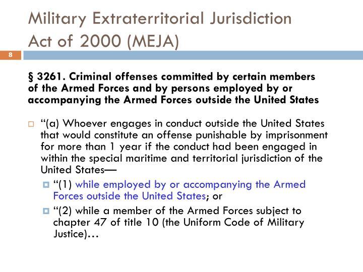 Military Extraterritorial Jurisdiction