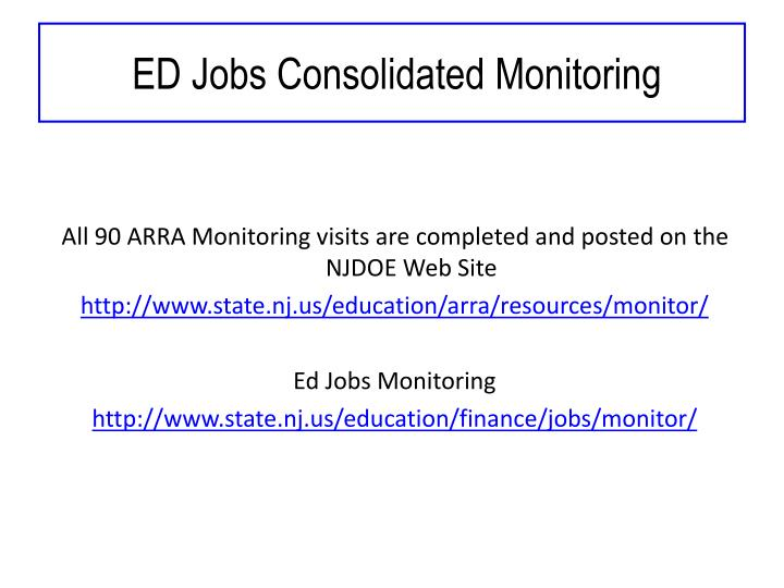 Ed jobs consolidated monitoring1