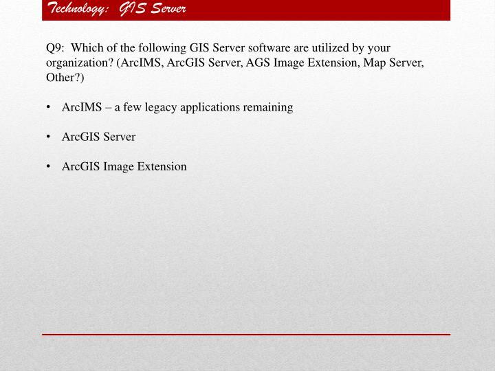 Technology:  GIS Server