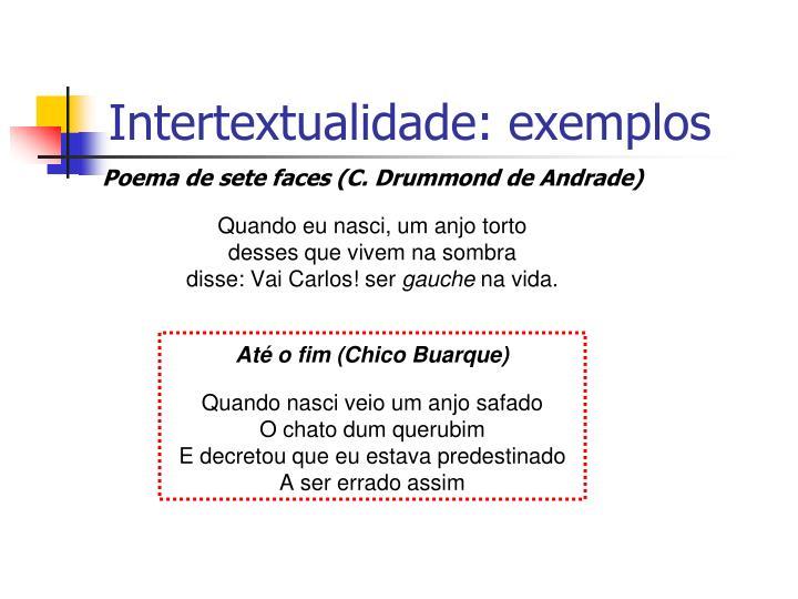 Intertextualidade: exemplos
