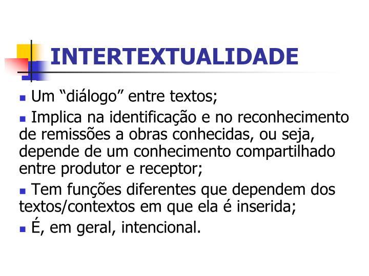 INTERTEXTUALIDADE