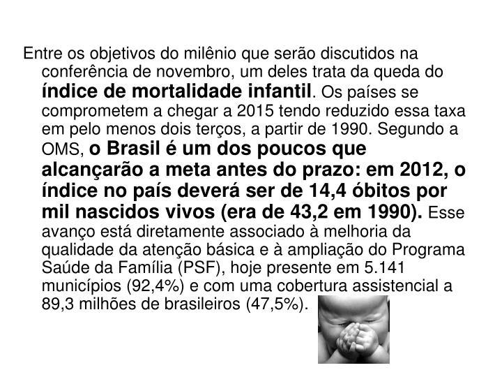 Metas do Milênio: Brasil vai sediar
