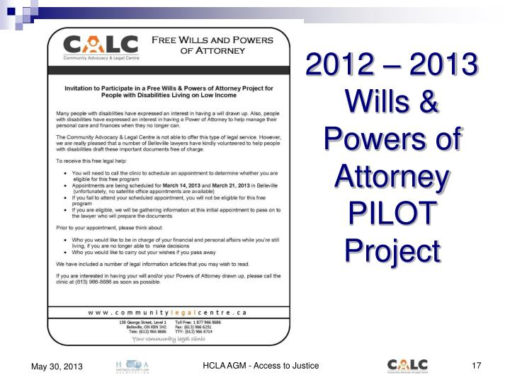 2012 – 2013 Wills & Powers of Attorney