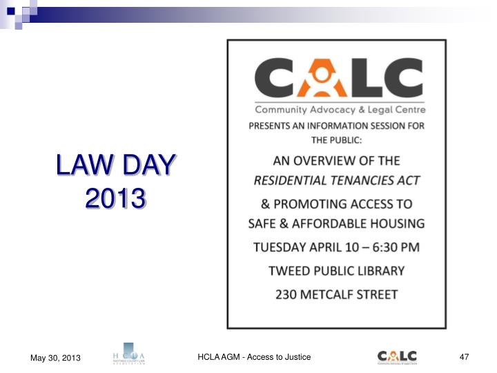 LAW DAY 2013