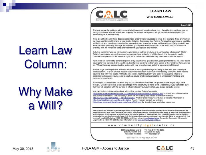 Learn Law Column: