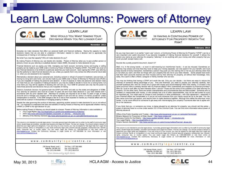Learn Law Columns: Powers of Attorney