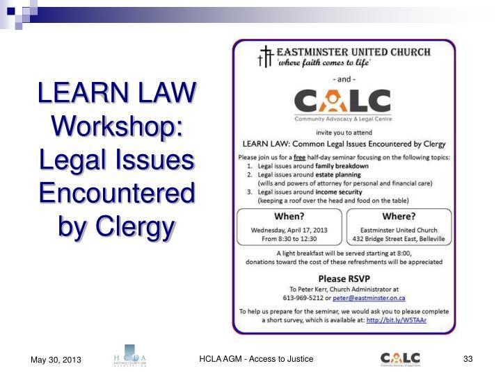 LEARN LAW Workshop: