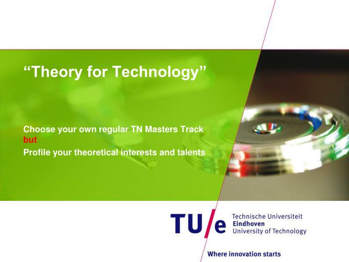 Theory for technology