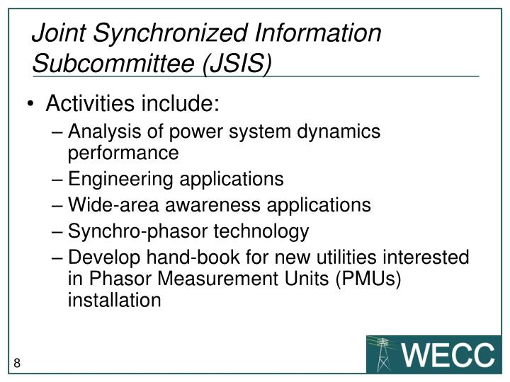 Joint Synchronized Information Subcommittee (JSIS)