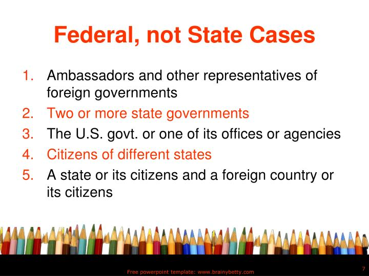 Federal, not State Cases