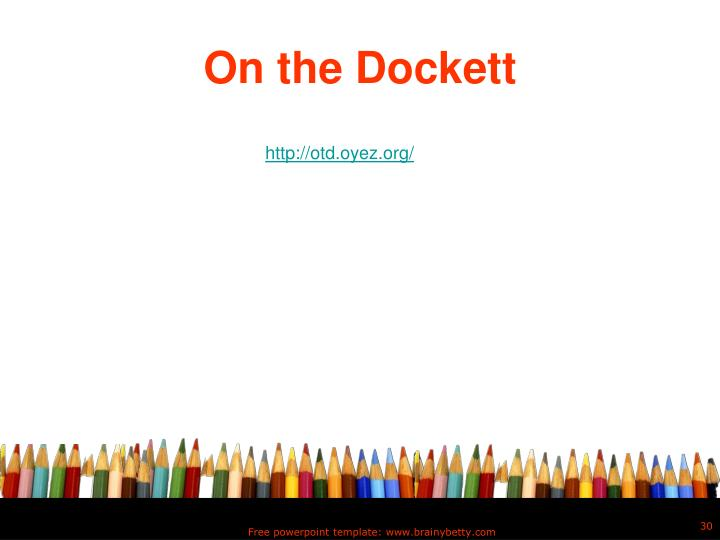 On the Dockett