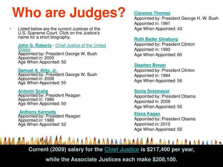 Who are Judges?