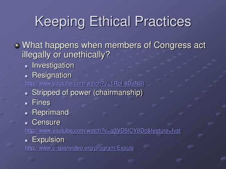 Keeping Ethical Practices