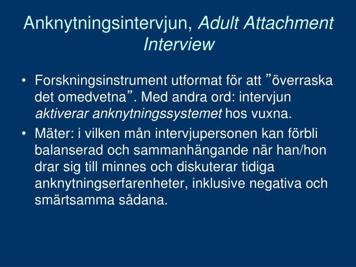 Anknytningsintervjun,