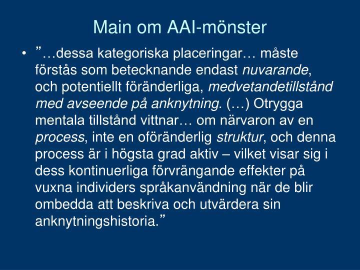 Main om AAI-mönster