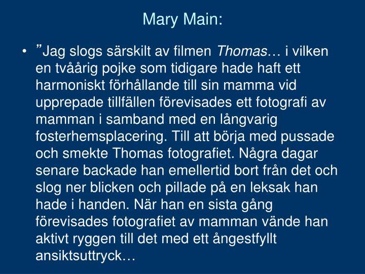 Mary Main: