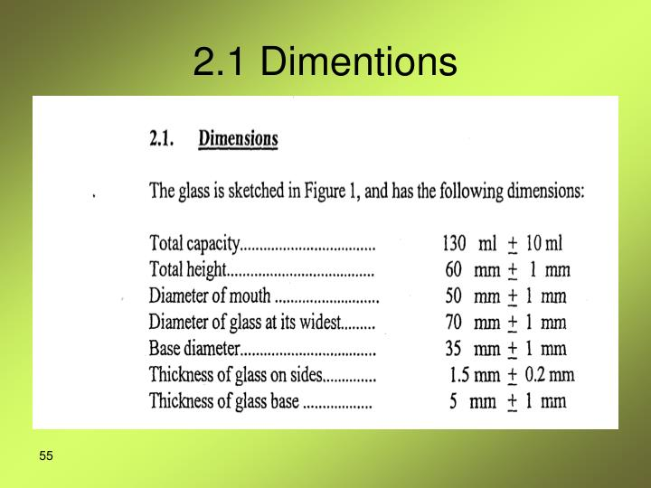 2.1 Dimentions