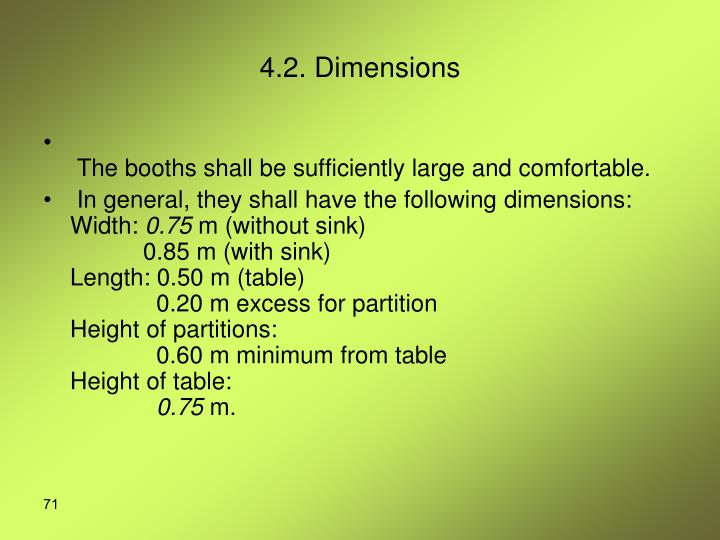 4.2. Dimensions