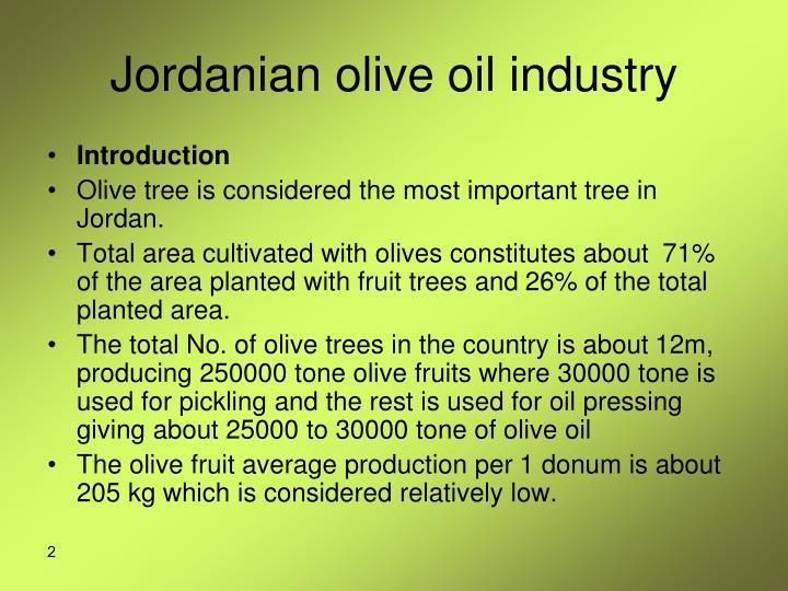 Jordanian olive oil industry