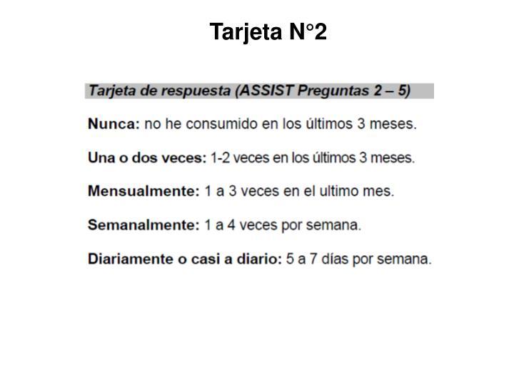 Tarjeta N°2