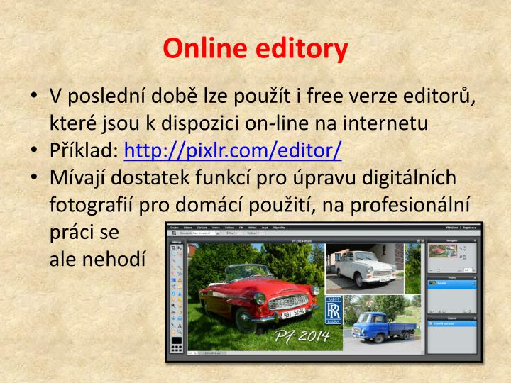 Online editory