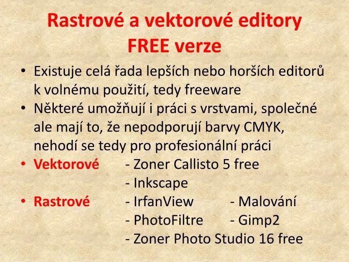 Rastrové a vektorové editory