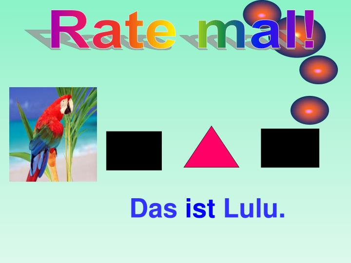 Rate mal!