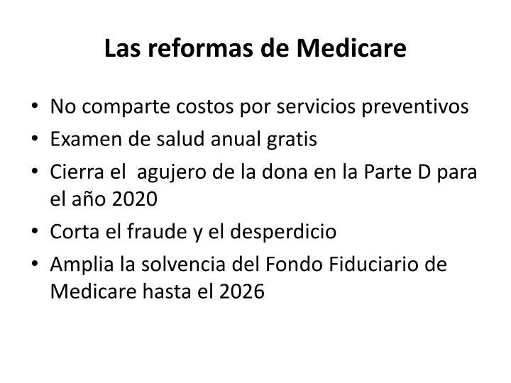 Las reformas de Medicare