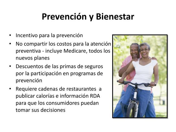 Prevención y Bienestar