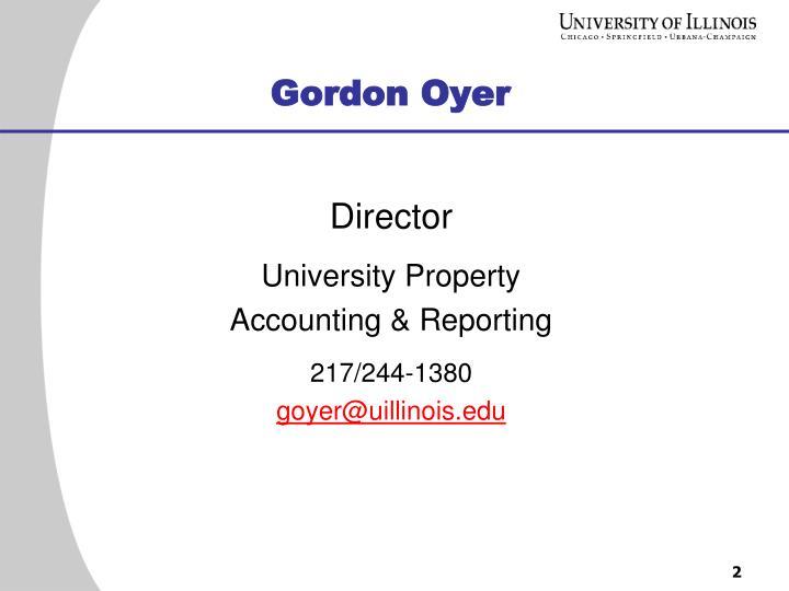 Gordon Oyer