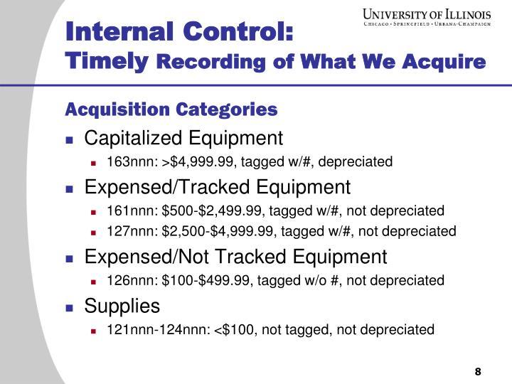 Internal Control: