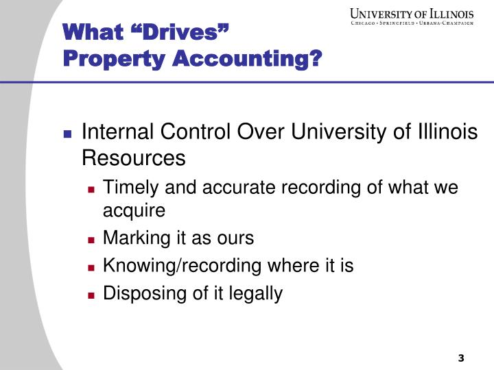 What drives property accounting