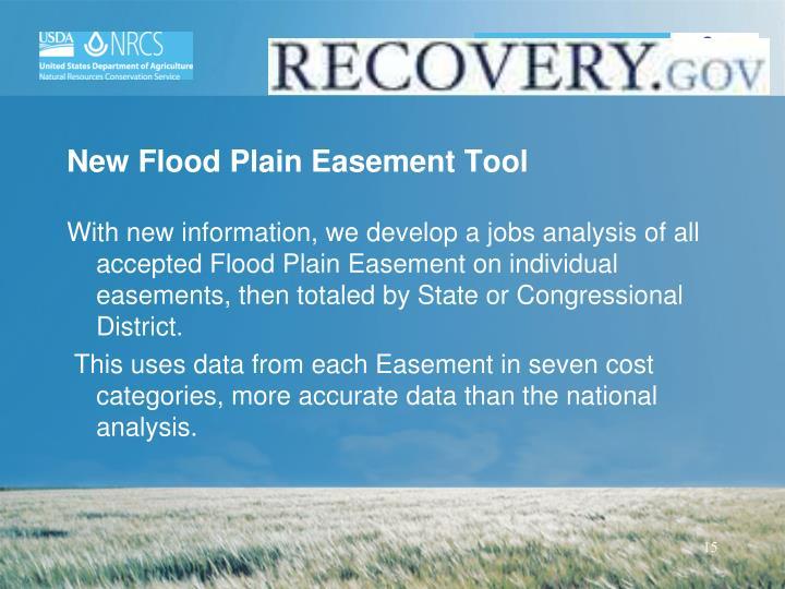 New Flood Plain Easement Tool
