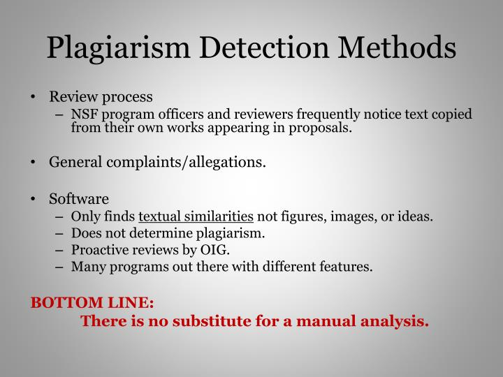 Plagiarism Detection Methods
