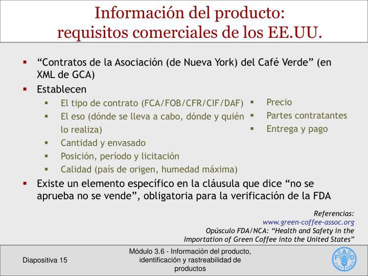Información del producto: