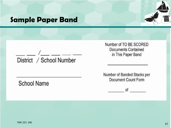 Sample Paper Band