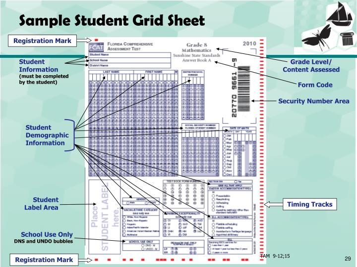 Sample Student Grid Sheet
