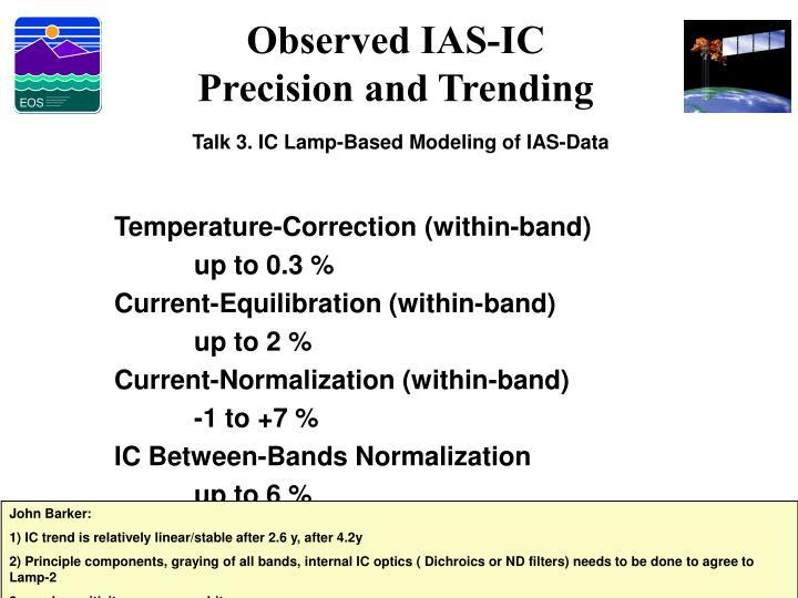 Observed IAS-IC